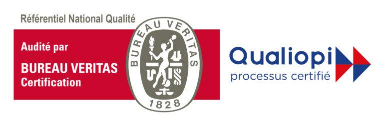 Référence national qualité : Audité par BUREAU VERITAS. Qualiopi processus certifié